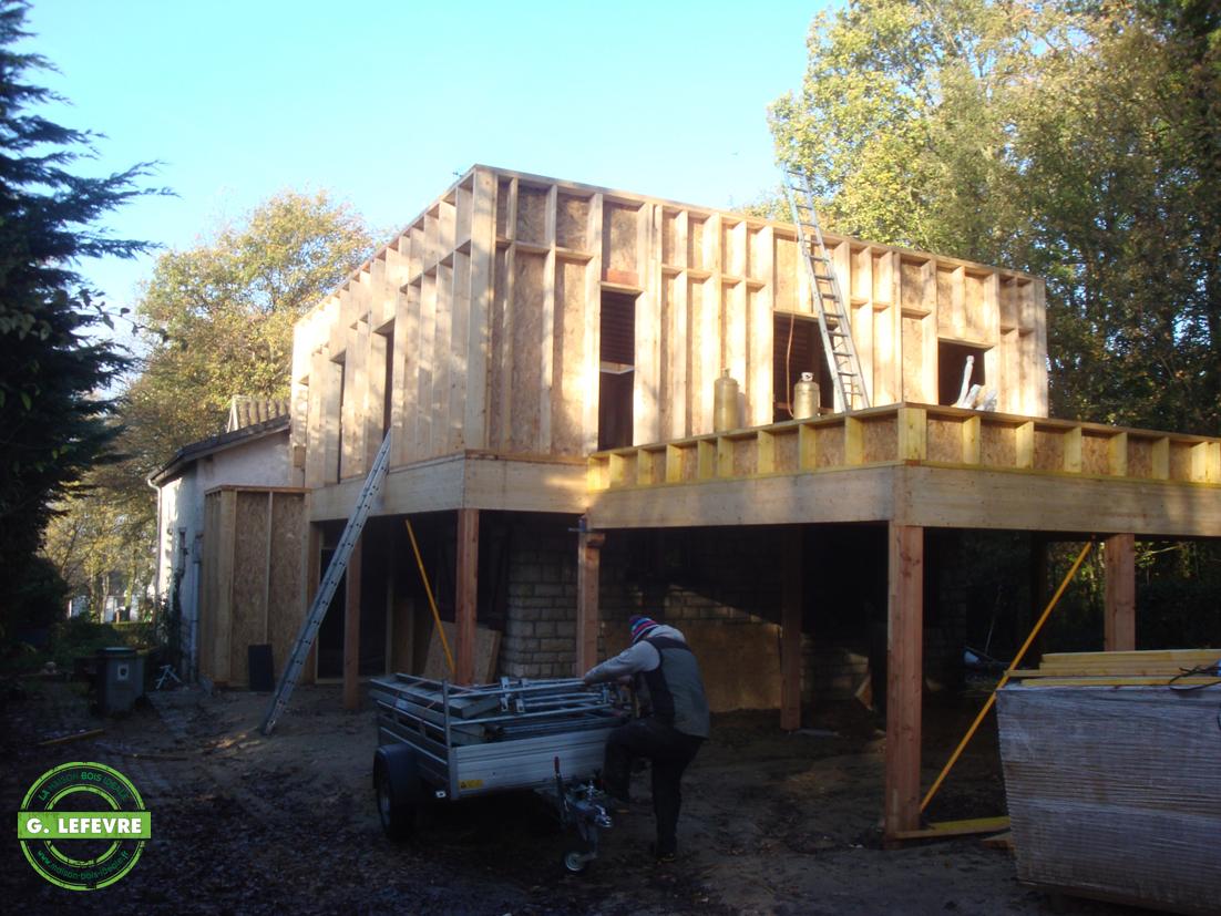 Maison à ossature en bois