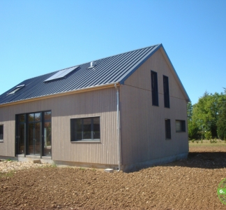 Maison passive à ossature en bois